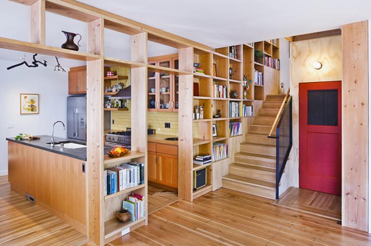 lopez residence shelves