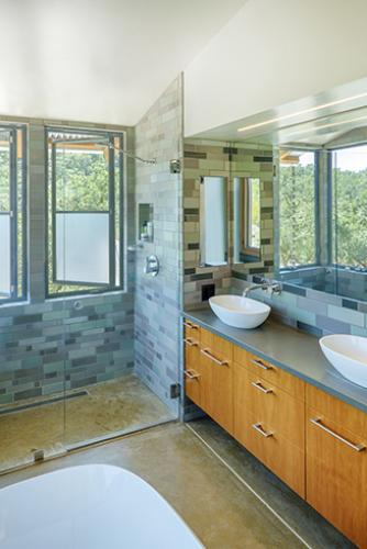 Watershed Straw Bale Residence bathroom