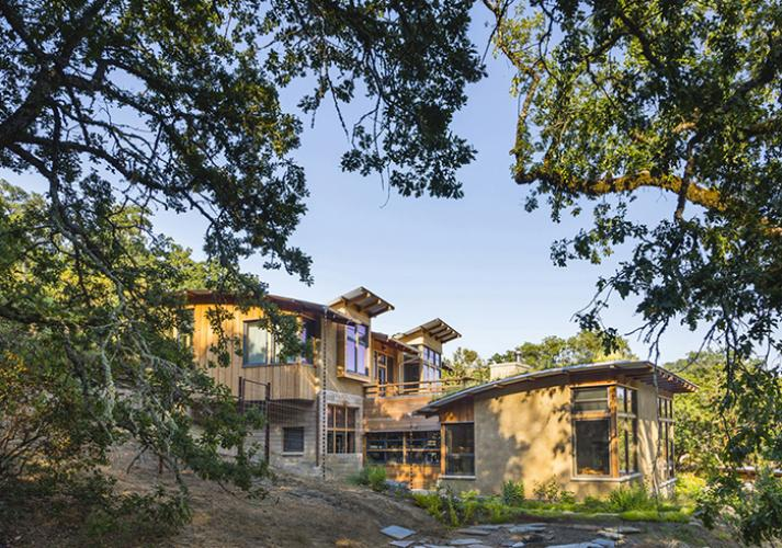 Watershed Straw Bale Residence exterior