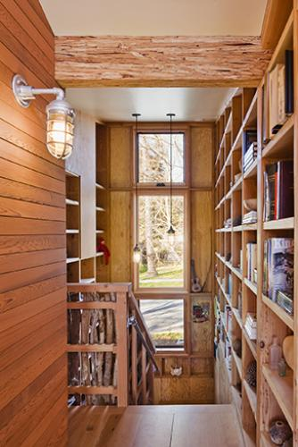 santa cruz straw bale stair hall
